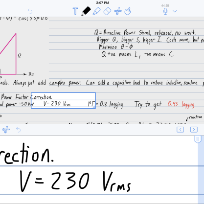 The zoom feature for writing with a stylus