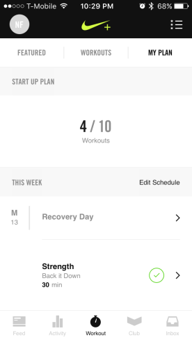 Plan schedule